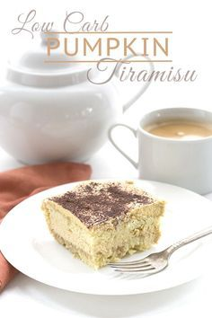 Low Carb Keto Pumpkin Tiramisu Recipe. LCHF THM Banting Atkins. Grain-free and Sugar-Free via @dreamaboutfood