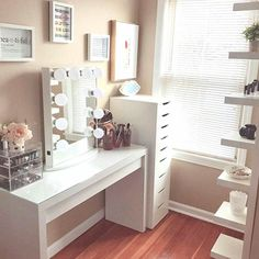 Check out majority of these shockingly beautiful all framework ideas that in fact did the most. Makeup Storage Bins, Rangement Makeup, Vanity Room, Glam Room, Makeup Rooms, Beauty Room, Diy Bedroom Decor, Home Decor, New Room