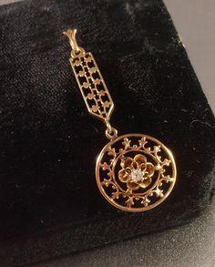 Victorian 10K Diamond Lavalier Necklace by LynnHislopJewels #voguet #vogueteam