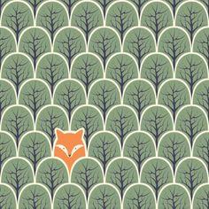 Adesivo de parede Fox