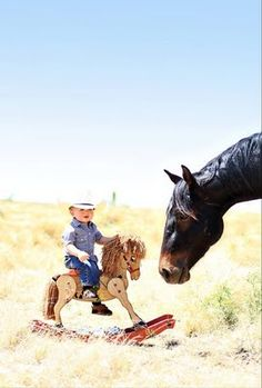 Omg I want baby to do this shot!!! The only thing I'm missing is a cowboy hat & a horse!!!