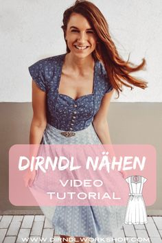 Dirndl nähen Anleitung Sewing dirndls yourself has never been so easy. In my video tutorial I'll show you how to sew the dirndl step by step. The matching Dirndl pattern can also be purchased from me. Oktoberfest Outfit, Dirndl Dress, Diy Mode, Easy Knitting, Diy Clothing, Diy Fashion, Winter Outfits, Sewing, Clothes