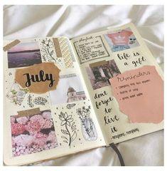 Bullet Journal Notebook, Bullet Journal Inspo, Bullet Journal Ideas Pages, Journal Pages, Bullet Journals, Memory Journal, Kunstjournal Inspiration, Art Journal Inspiration, Scrapbook Journal