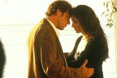 Aiden Quinn as Officer Gary Hallet and Sandra Bullock as Sally Owens in Practical Magic (1998)