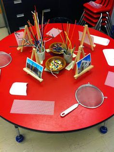 Weaving sculpture - Adventures in Kindergarten: Discovery Time Inquiry Based Learning, Project Based Learning, Learning Centers, Early Learning, Art Centers, Kindergarten Classroom, Kindergarten Activities, Classroom Activities, Classroom Ideas