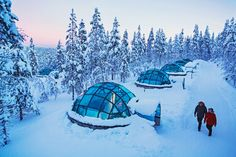 Kakslauttanen offers many unforgettable types of lodging in the Finnish Lapland…