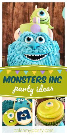 "Monsters Inc. / Birthday ""Monsters Inc. Monster Inc Birthday, Monster Inc Party, Monsters Inc, Party Drinks, Party Favors, Monster Inc Cakes, Monster University Party, Adult Birthday Party, Party Activities"