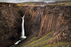 Litanesfoss Falls in Iceland