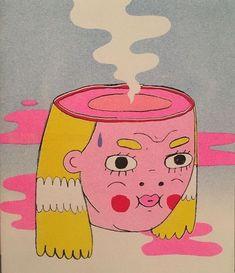 Art Sketches, Art Drawings, Illustration Art, Illustrations, Arte Sketchbook, Photocollage, Hippie Art, Art Hoe, Psychedelic Art