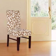Chair Covers will bloom your dining table with their floral/geometric designs and vibrant colors to your dining space. Dining Room Chair Covers, Dining Room Chairs, Dining Table, Stretch Chair Covers, Slipcovers For Chairs, Geometric Designs, Accent Chairs, Floral Design, Furniture