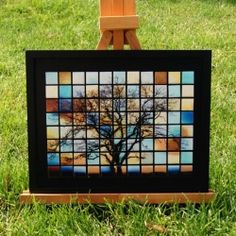 Instructions for making your own mosaic tile art using glass tiles and Mod Podge Products.