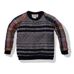 Ace & Jig Heritage Stripe w/ Cabin Plaid Quilted Sweatshirt   Pilgrim Surf + Supply
