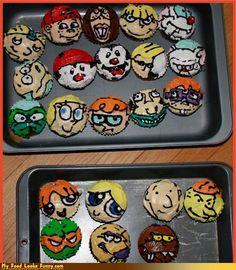 90s cartoon character cupcakes