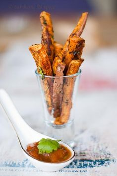 APPETIZERS : Curried Sweet Potato Fries APPETIZERS Recipe