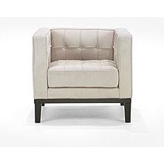 @Overstock.com - Retro Cream Chenille Chair - Add an elegant seating option to your home or office with this beautiful chenille chair. With a retro design, this wood chair covered in cream chenille fabric offers your space a relaxing ambiance that invites your guests to sit a spell.  http://www.overstock.com/Home-Garden/Retro-Cream-Chenille-Chair/5291496/product.html?CID=214117 $524.10