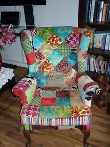 patchwork chair! I'm thinking.......