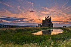 Photograph Classic Sunset At Whitby Abbey. by Paul Downing on 500px