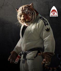 Fantasy Warrior, Fantasy Art, Bjj Wallpaper, Martial, Mma, Tiger Artwork, Marshal Arts, Ju Jitsu, Creation Art