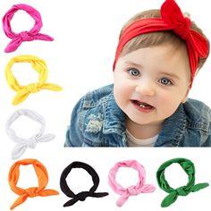 ГОРЯЧАЯ Бренд Моды Baby Дети Девушки Кролик Лук Уха Hairband Повязка Тюрбан Узел Голову Обертывания #CLICK! #clothing, #shoes, #jewelry, #women, #men