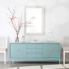 Redford House Fiona 3 Drawer Entertainment Console @LaylaGrayce MEDIA CONSOLE FOR FAMILY ROOM