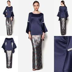 Baju Kurung Moden Hari Raya 2016 More Trouvez l'inspiration sur www. Kebaya Muslim, Kebaya Modern Hijab, Kebaya Hijab, Kebaya Dress, Muslim Dress, Model Kebaya Modern Muslim, Muslim Fashion, Modest Fashion, Hijab Fashion
