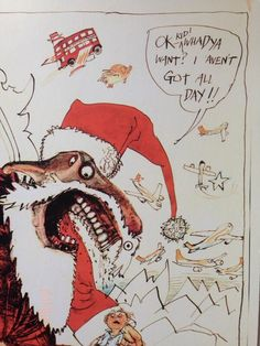 Ralph Steadman Xmas via @Margot D.S. D.S. D.S. Swift