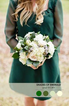 Emerald wedding color palette for a Baylor wedding.