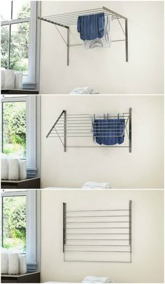10 space-saving drying racks for small spaces – Living in a shoebox – Laundry Room İdeas 2020 Diy Clothes Rack, Laundry Drying, Clothing Rack, Room Organization, Laundry Room Organization, Dorm Room Organization, Drying Rack Laundry, Space Saving, Small Space Storage