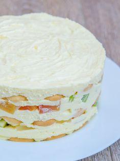 Tort diplomat cu fructe tropicale - Din secretele bucătăriei chinezești Cake Recipes, Dessert Recipes, Torte Cake, Romanian Food, Sweet Tarts, Something Sweet, Vanilla Cake, Bakery, Cheesecake