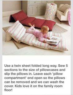Cool floor pillows!