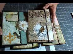 ▶ Note Card Holders - YouTube * sehr schönes tuto, langer block eingepackt, magnetverschluss
