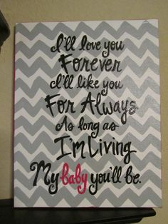 Modern Chevron Print Hand Painted Canvas with Quote by jlucille