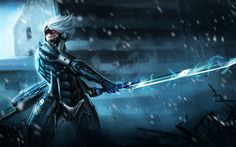 Download wallpapers Raiden, art, Metal Gear Rising, action, sword
