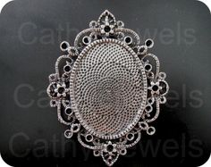 Antique Silver Filigree Cameo Setting 3 Pieces by Cathysjewels, $3.85
