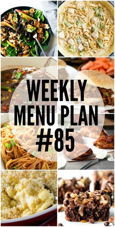 Weekly Menu Plan - a delicious collection of dinner, side dish and dessert recipes that helps you create your weekly menu. Homemade Alfredo, Alfredo Recipe, Alfredo Sauce, Weekly Menu Planning, Lemon Herb, Your Soul, Meal Planner, Meals For The Week, Family Meals