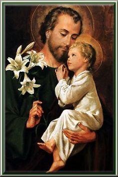 San José y el niño Jesus