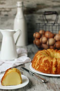 Bizcocho-Pudding de leche cremoso.