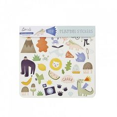 These Jungle themed stickers are great fun! Use them on their own, or paired with our Jungle Playpa. Each pack contains 3 sheets of stickers. A fantastical selection of themed, collectable stickers. Book Baskets, Apple Baskets, Baby Toys, Kids Toys, Jungle Drawing, Rumble In The Jungle, Belly Basket, Classic Rugs, Modern Kids