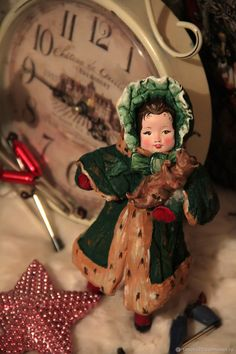 Купить или заказать Нашла дом. Девочка Адель с мишкой. Ватная игрушка в интернет магазине на Ярмарке Мастеров. С доставкой по России и СНГ. Материалы: вата, акриловые краски, лак, каркас,…. Размер: 15 см