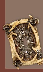 Antler Switch Covers - faux Antler Switch Covers complete your rustic rooms.