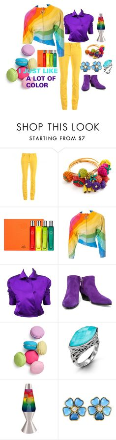 """""""ALL ABOUT COLOR"""" by cynthiahawthorne ❤ liked on Polyvore featuring Love Moschino, Mercedes Salazar, Hermès, Thierry Mugler, Ralph Lauren, Giuseppe Zanotti, Two's Company, Hera, Universal Lighting and Decor and Van Cleef & Arpels"""