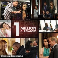#ScandalRecruitment Reason 30: Because 1 million Gladiators can't be wrong. - no we can't!!!!