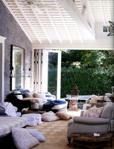 Love this indoor/outdoor room by Jeffrey Bilhuber- casual elegance