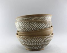 Ceramic salad bowl, Serving bowl, Handmade pottery bowl By Clay and Wood Studio