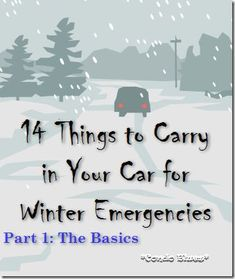 14 basic things to carry in your car for winter snow emergencies. I didn't really think I would need something like this in Georgia, until last week's snow/ice Survival Tips, Survival Skills, Survival Gadgets, Survival Stuff, Survival Food, Outdoor Survival, Just In Case, Just For You, In Case Of Emergency