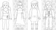 American girl doll coloring page | kids | Pinterest | Girl dolls ...