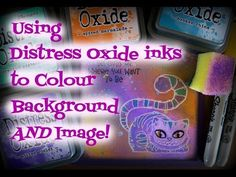Using Distress Oxide inks to Colour Background and Image! - YouTube