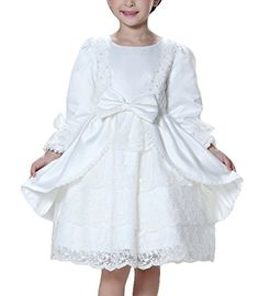 1ff1a2edfb07 Happy Cherry Little Girls Princess Bowknot Dress For Special Occasions For  Age 311 Years White * More info could be found at the image url.