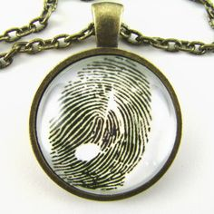 MUSICAL FINGERPRINT Necklace Music in the body, soul and finger tips  Musical impression 8th note in a thumb print Gift for music lovers on Etsy, $12.25