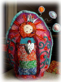 THE FABRIC OF MEDITATION - SARA LECHNER'S BLOG: Virgin Mary of the Flowers - Gottesmutter der Blumen - Vierge Marie des Fleurs - Virgen de las Flores